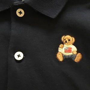 Ralph Lauren Navy Onesie w/ Bear 6mo NWT